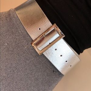 Silver belt with silver buckle